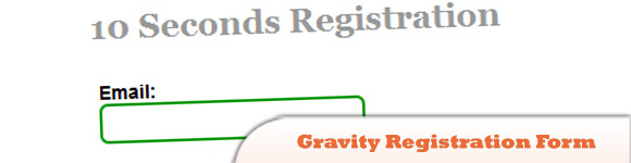 Gravity Registration Form