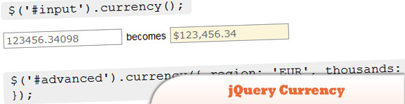 jQuery Currency