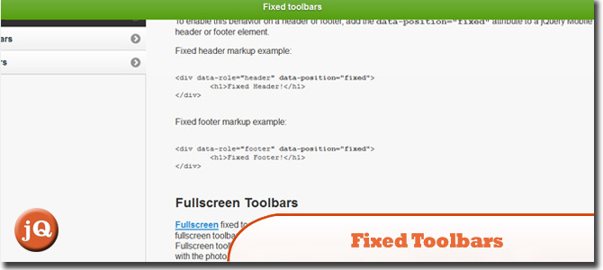 Fixed toolbars