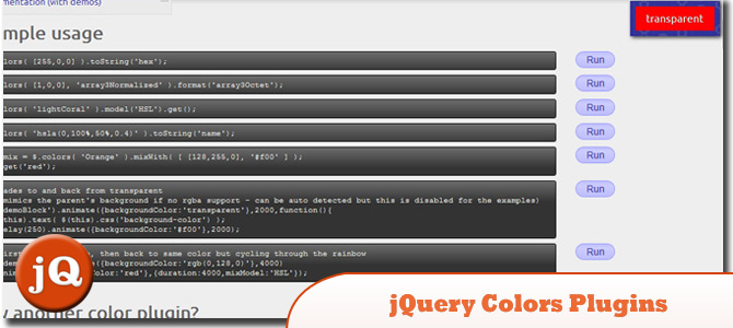 jQuery Colors