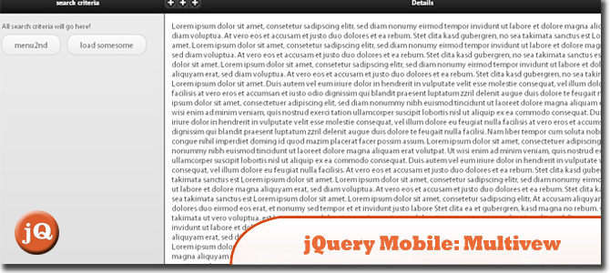 jquery-mobile - plugin: multiview