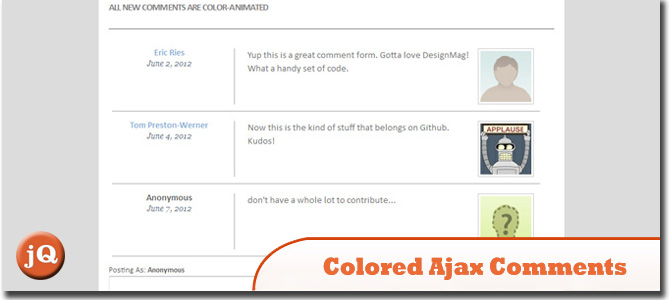Colored Ajax Comments
