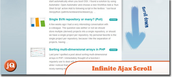 Infinite Ajax Scroll