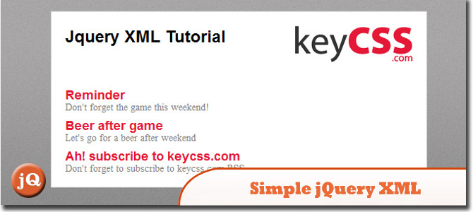 Simple jQuery XML