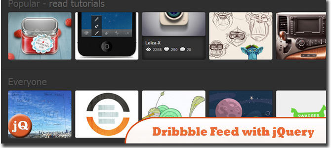 Grab Dribbble Feed with jQuery